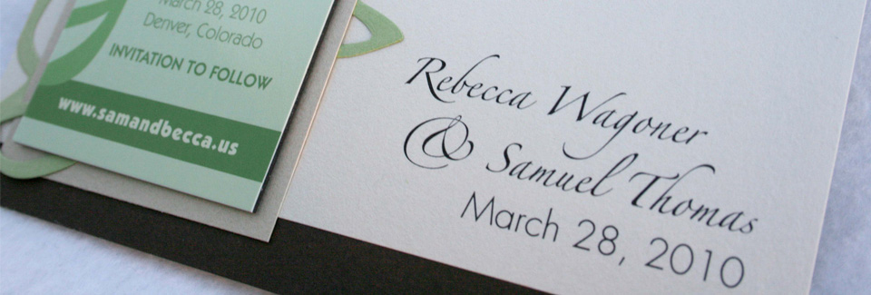 Sam and Becca Invitations